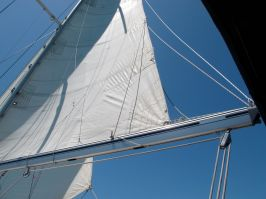 Mainsail of S/V Blue Ice